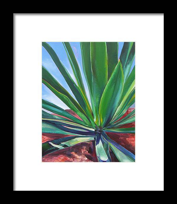 Botanical Framed Print featuring the painting Desert Plant by Karen Doyle