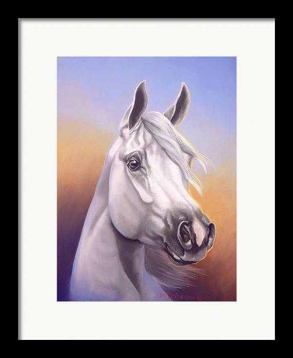 Arabian Framed Print featuring the painting Desert Prince by Howard Dubois