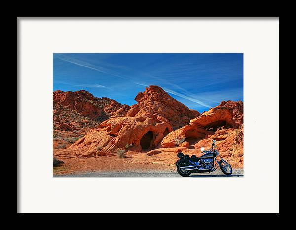 Desert Framed Print featuring the photograph Desert Rider by Charles Warren