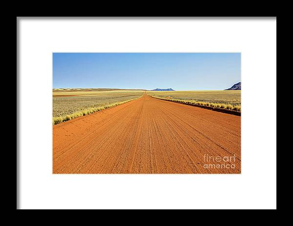 African Framed Print featuring the photograph Desert Road by Benny Marty