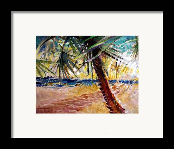 Landscape Framed Print featuring the painting Desert Seashore by Patrick McClintock