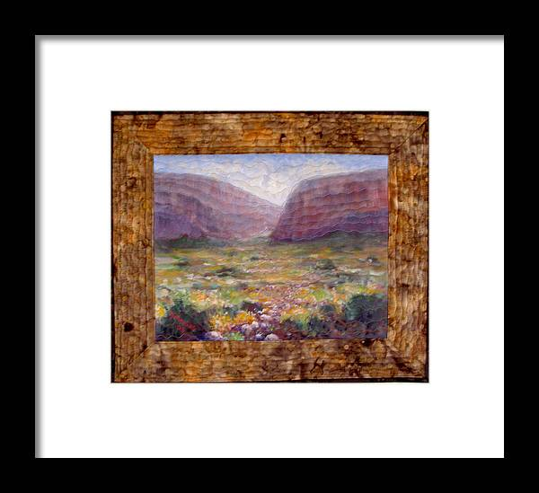 Realism Framed Print featuring the mixed media Desert Spring by Diane and Donelli DiMaria
