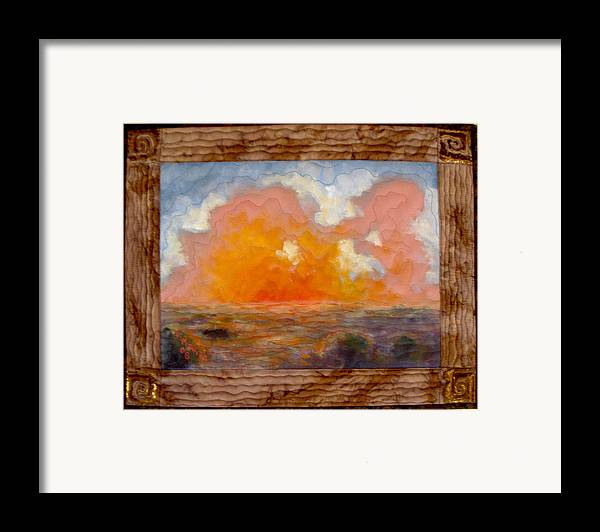 Realism Framed Print featuring the mixed media Desert Sunset by Diane and Donelli DiMaria