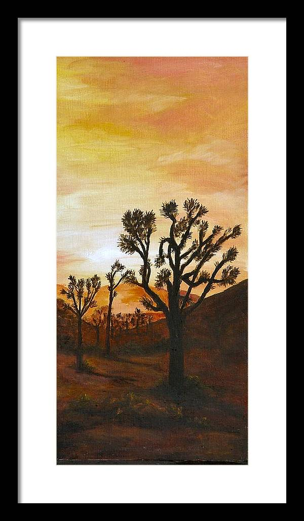 Sunset Framed Print featuring the painting Desert Sunset II by Merle Blair