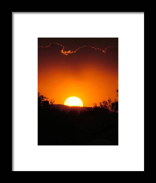 Sunset Framed Print featuring the photograph Desert Sunset by Nick Gustafson