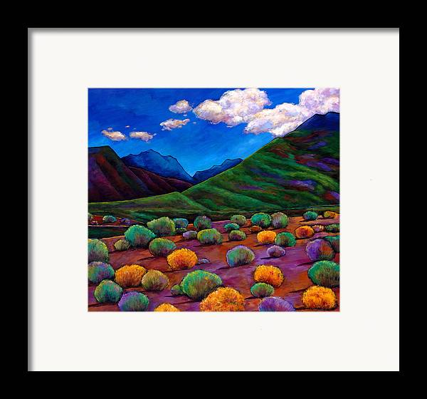 Arizona Framed Print featuring the painting Desert Valley by Johnathan Harris