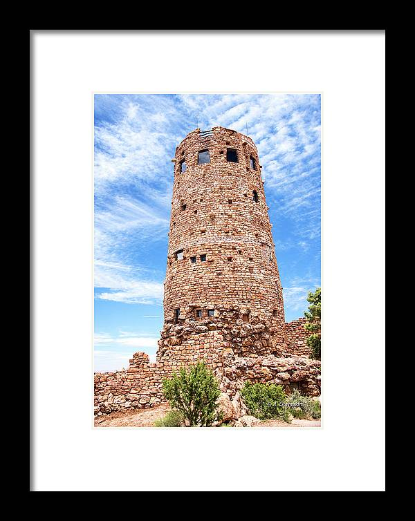 Desert View Tower Framed Print featuring the photograph Desert View Tower, Grand Canyon by A Gurmankin