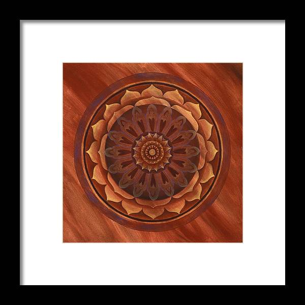 Mandala Framed Print featuring the painting Desert Wind by Charlotte Backman