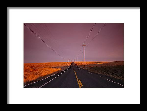 Deserted Framed Print featuring the photograph Deserted Country Road by Owen Ashurst