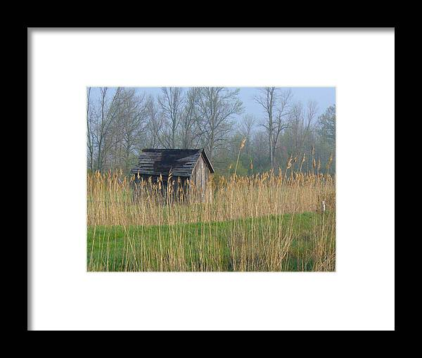Old Buildings Framed Print featuring the photograph Deserted by Peggy King