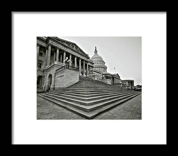 Capitol Framed Print featuring the photograph Design In Providence by Mitch Cat