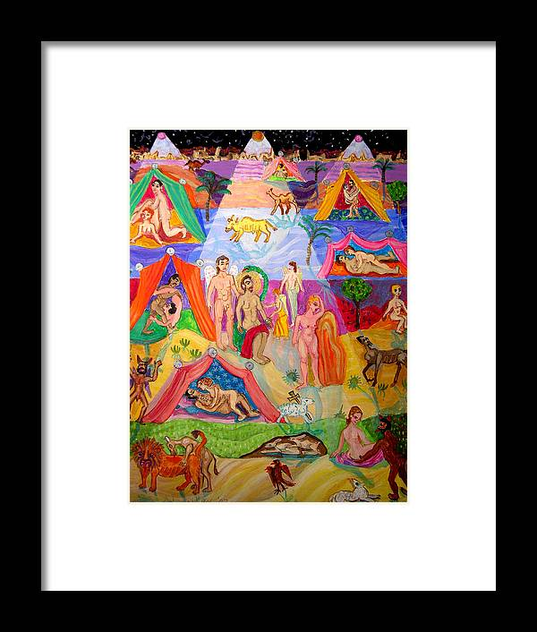 Fun Framed Print featuring the painting Desire In The Desert by Maria Alquilar