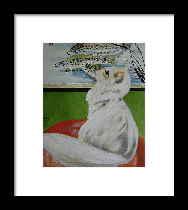 Fantasy Framed Print featuring the painting Desire by Lian Zhen
