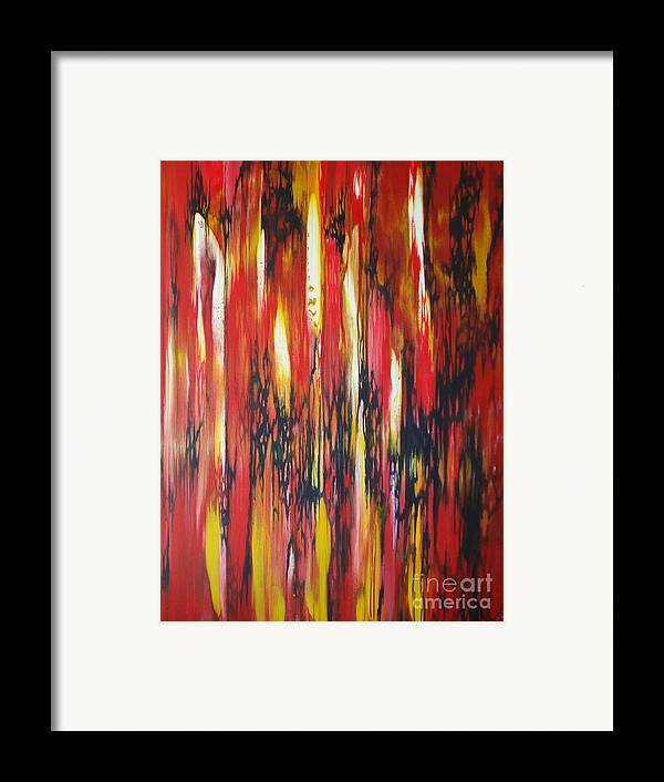Abstract Framed Print featuring the painting Desire by M J Venrick