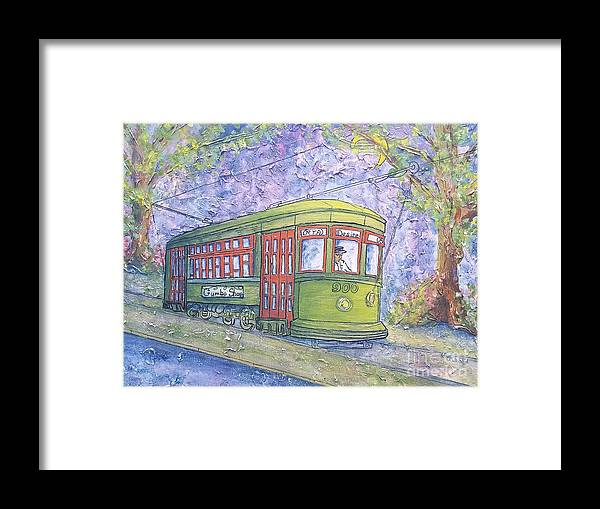 Streetcar Framed Print featuring the painting Desire Street Streetcar by Catherine Wilson