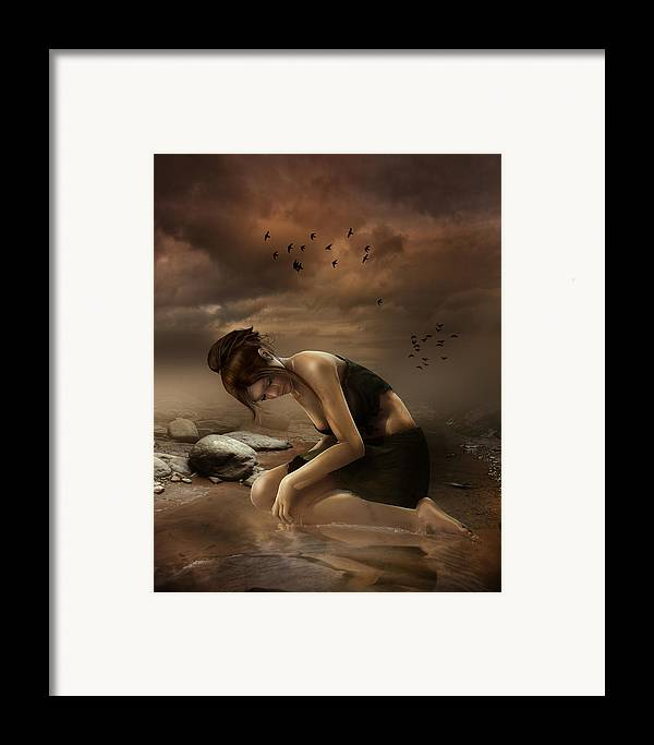 Sadness Framed Print featuring the digital art Desolation by Mary Hood