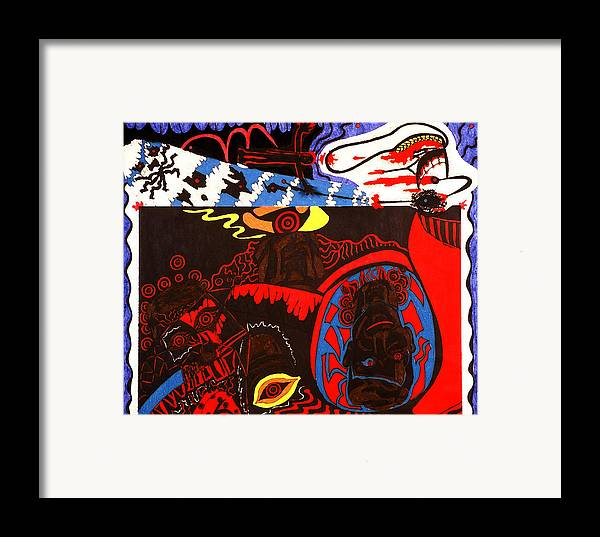 Abstract Framed Print featuring the print Despair by William Watson