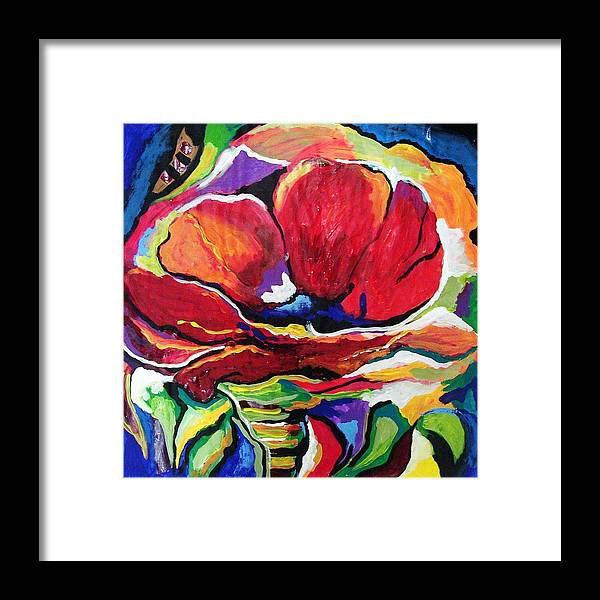 Floral Framed Print featuring the painting Desperate For You by Gina Hulse