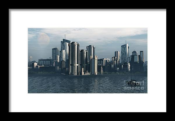 Futurism Framed Print featuring the digital art Destiny by Richard Rizzo