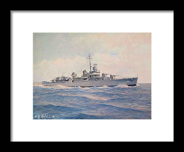 Ships Framed Print featuring the painting Destroyer Halsey Powell by William H RaVell III