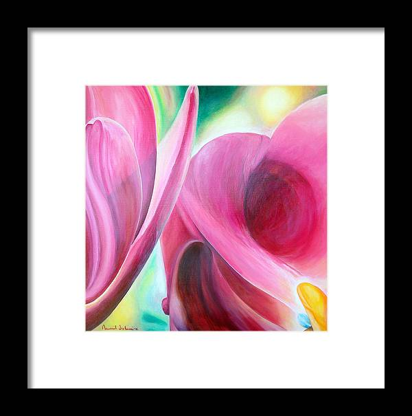 Fleurs Framed Print featuring the painting Detail by Muriel Dolemieux