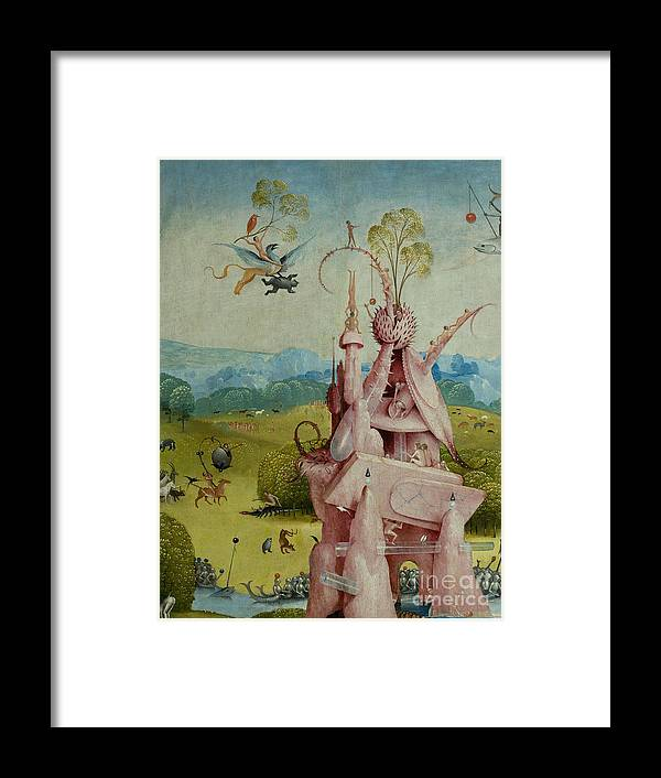 Central Panel Framed Print featuring the painting Detail Of Central Panel The Garden Of Earthly Delights by Hieronymus Bosch