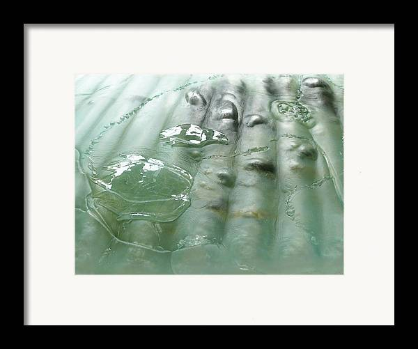 Cradle-mountain Framed Print featuring the sculpture Detail Of The Forth River Meets The Sea by Sarah King