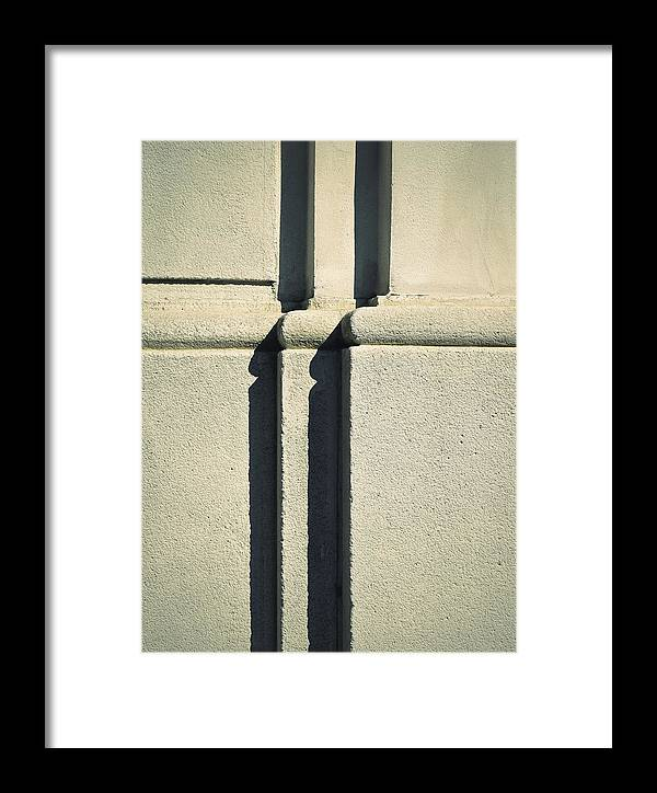 Sandstone Framed Print featuring the photograph Detail Stone Pillars With Shadow by Jozef Jankola