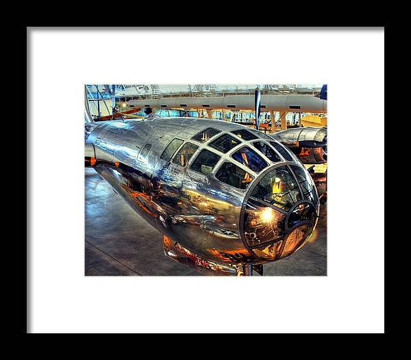 Enola Gay Framed Print featuring the photograph Deter It by Mitch Cat