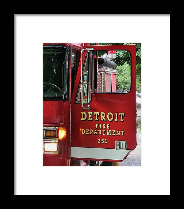 Firemen Framed Print featuring the photograph Detroit Fire Department by Daniel Hagerman