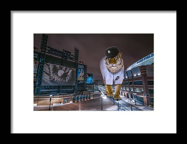 Star Wars Framed Print featuring the photograph Detroit Tigers at Comerica Park by Nicholas Grunas