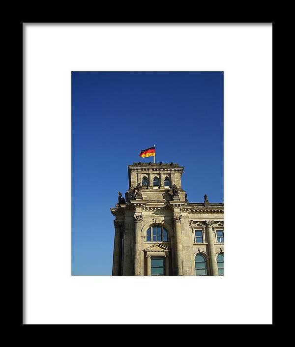 Deutscher Bundestag Framed Print featuring the photograph Deutscher Bundestag II by Flavia Westerwelle
