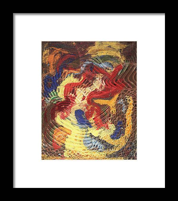 Abstract Framed Print featuring the painting Devant by Dominique Boutaud