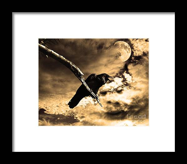 Wingsdomain Framed Print featuring the photograph Devil In The Clouds by Wingsdomain Art and Photography