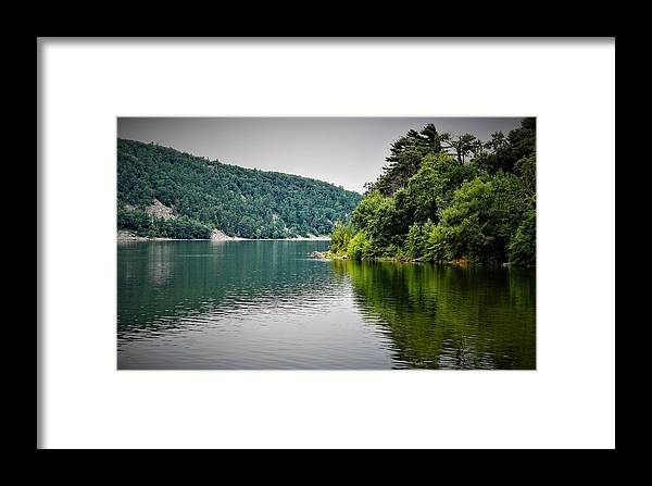 Devils Lake Framed Print featuring the photograph Devils Lake Wisconsin by Jeff Murphy