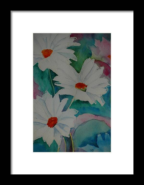 Daisies Framed Print featuring the painting Devin's Dasies by Melinda Etzold