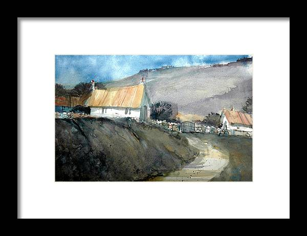 Devon Framed Print featuring the painting Devonshire Farm by Charles Rowland