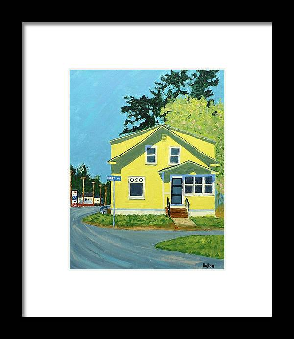 Landscape Framed Print featuring the painting Dewey Ave by Laurie Breton