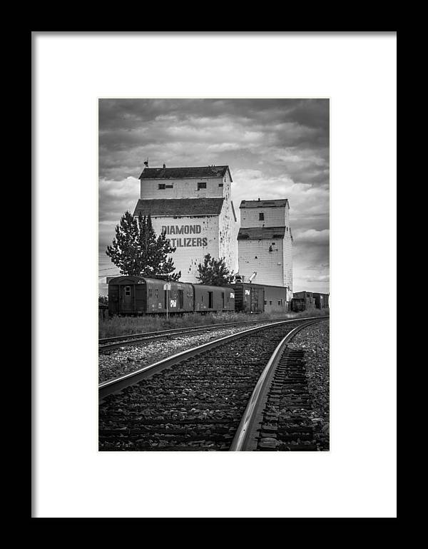 Photography Framed Print featuring the photograph Dewinton Elevator by Jaimen Kelly