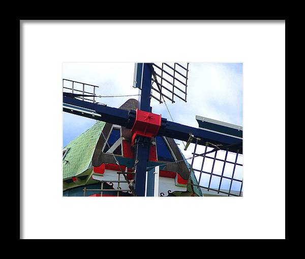 Dezwaan Framed Print featuring the photograph Dezwaan Windmill Holland Michigan by Michelle Calkins