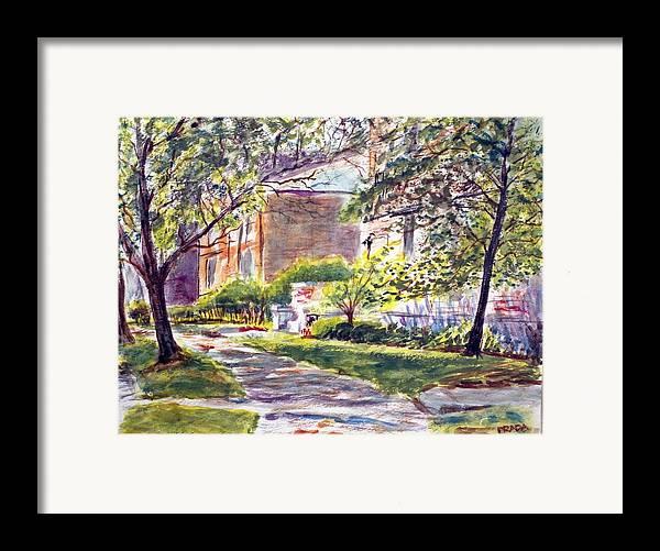 Landscape Framed Print featuring the painting Dia Luminoso by Horacio Prada