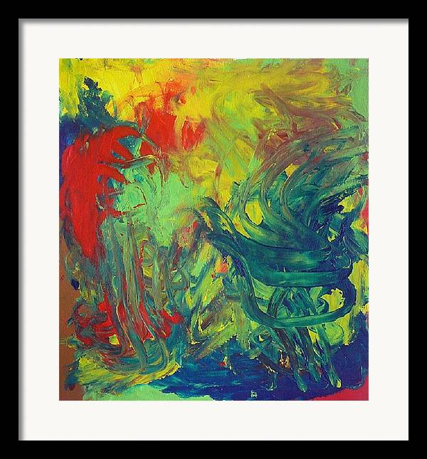 Abstract Framed Print featuring the painting Diablo Garden by Richard OBrien