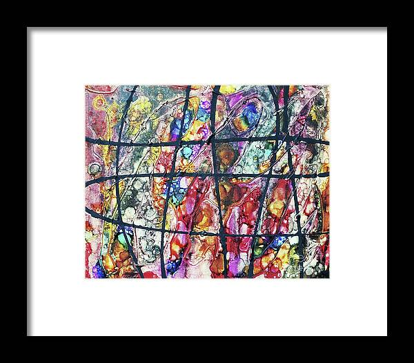 Keith Elliott Framed Print featuring the painting Diabolical Madness - V1cbs38 by Keith Elliott