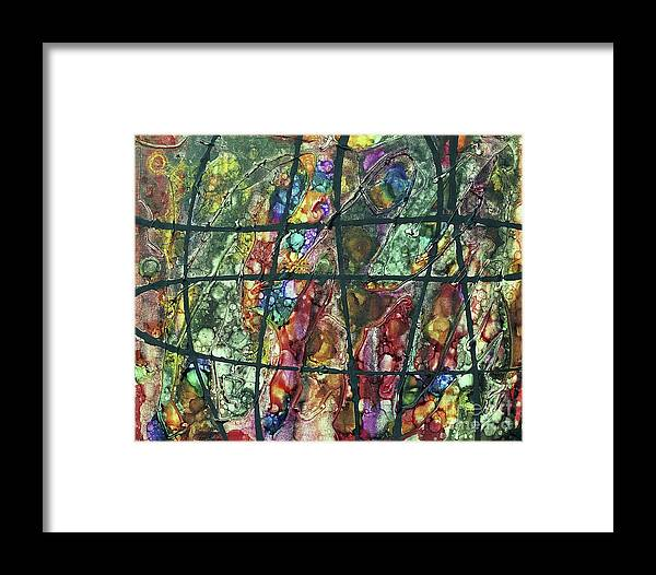 Keith Elliott Framed Print featuring the painting Diabolical Madness - V1lsu100 by Keith Elliott