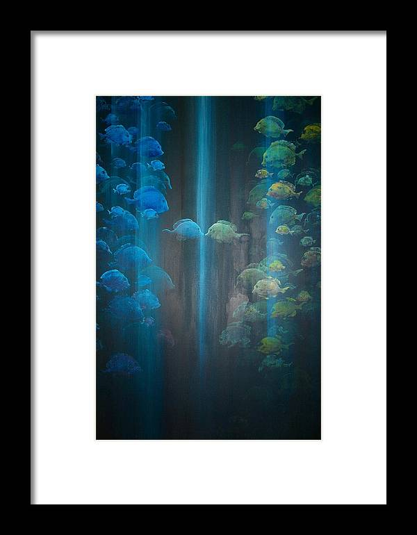 Fish Framed Print featuring the painting Dialogue II by Ana Bikic