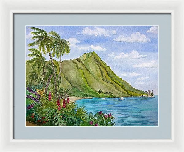 Diamond Head in Honolulu by Bonnie Sue Schwartz