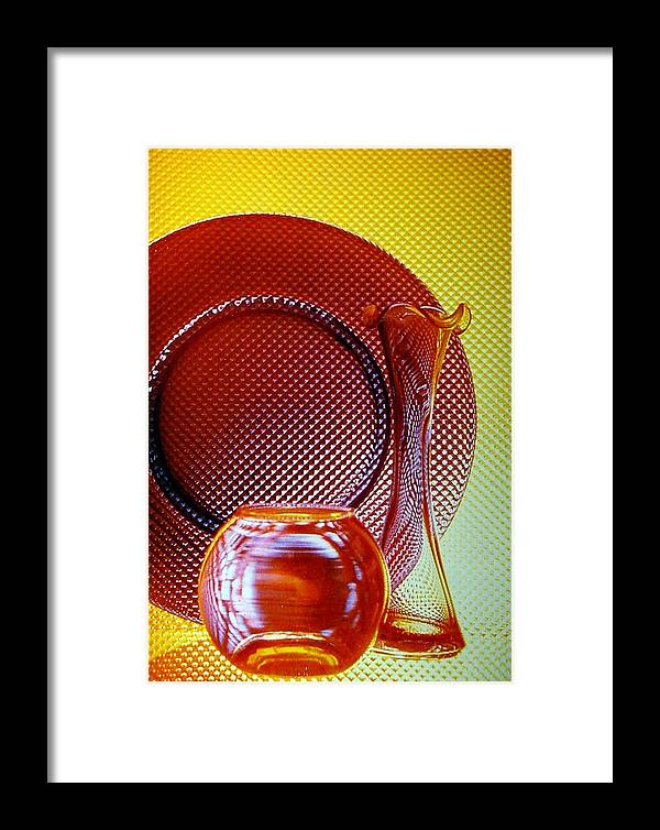 Glass Framed Print featuring the photograph Diamonds In Glass by Marsha Elliott