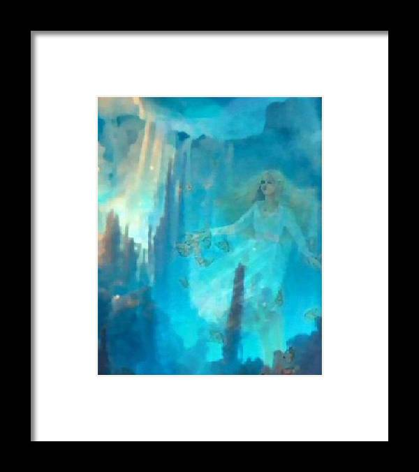Fantasy Framed Print featuring the digital art Dianna by Gina Roseanne