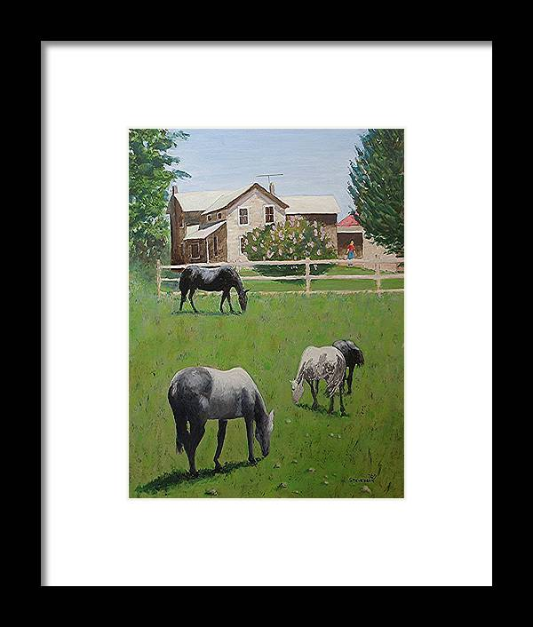 Horses Framed Print featuring the painting Dibble's by Joseph Stevenson