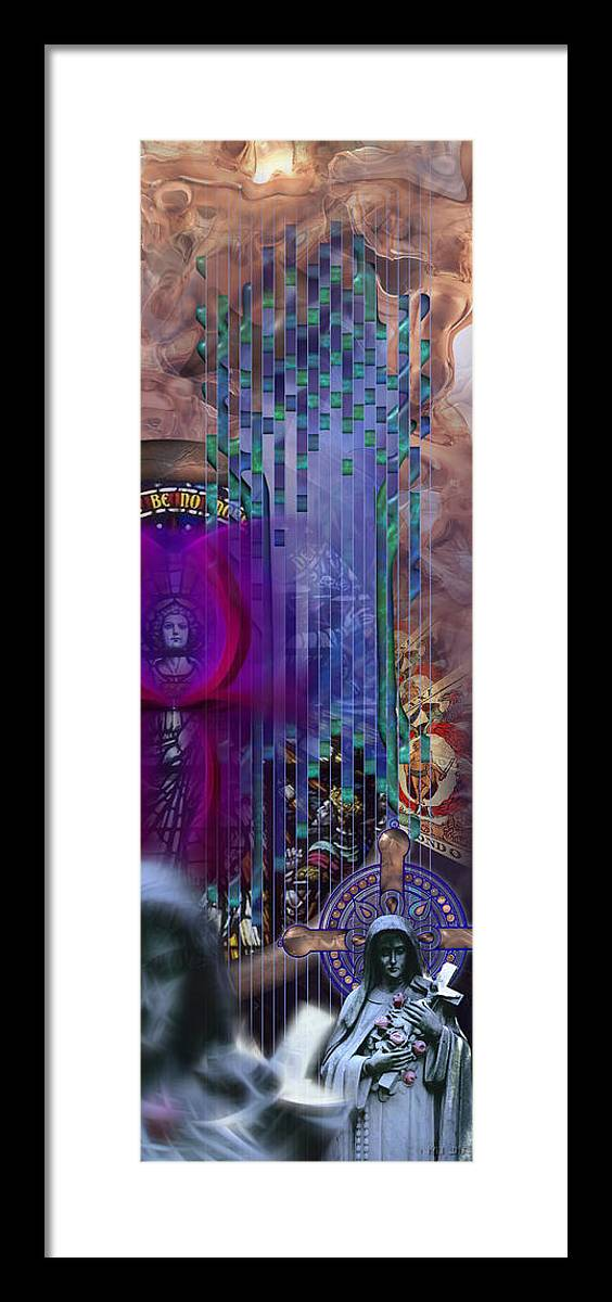Goddess Framed Print featuring the digital art Dichotomy I by Kenneth Armand Johnson